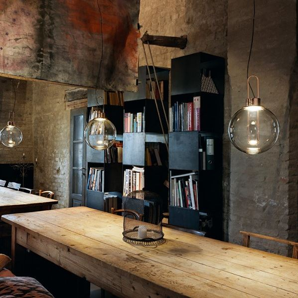beleuchtungsideen f r bars und caf s lichtjournal. Black Bedroom Furniture Sets. Home Design Ideas