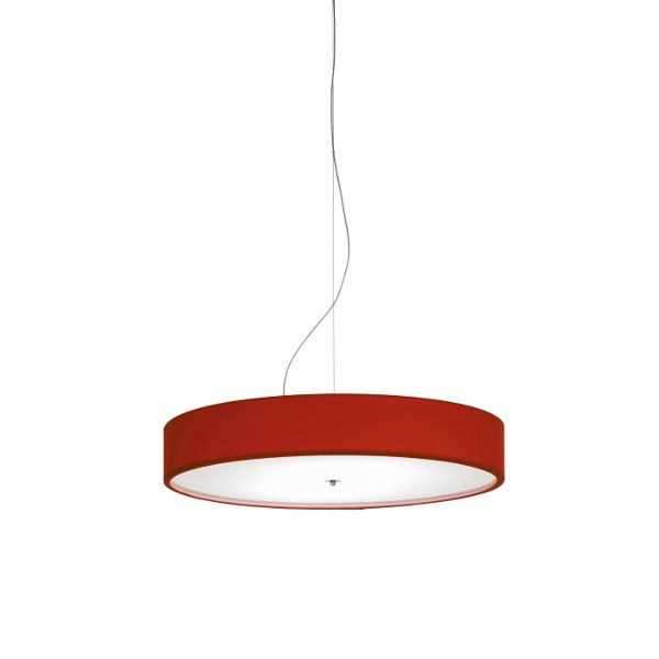 Discovolante E27 Baumwolle/Polyester D100 Pendelleuchte in Rot