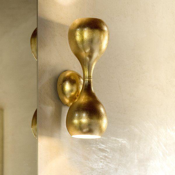 Blob  45 Wandleuchte gold