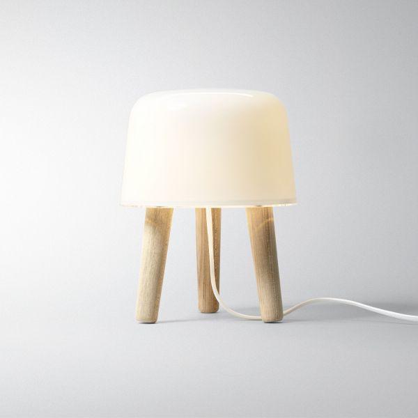 Milk NA 1 Tischleuchte, weißes Kabel