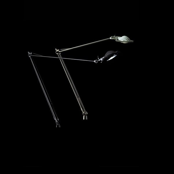 Berenice D12pt LED Tischleuchte, alu und schwarz