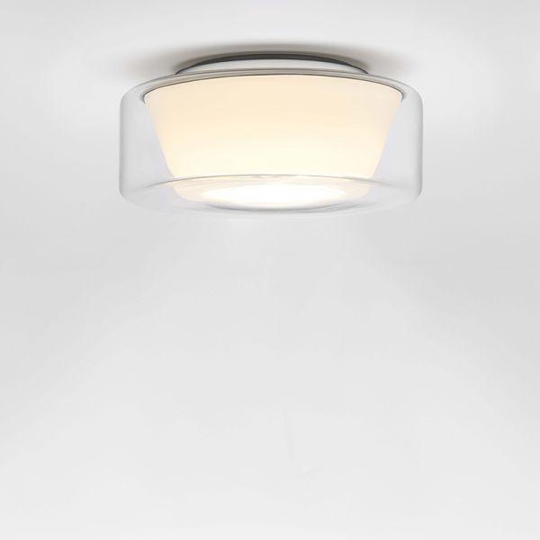 Curling klar / konisch opal LED Deckenleuchte