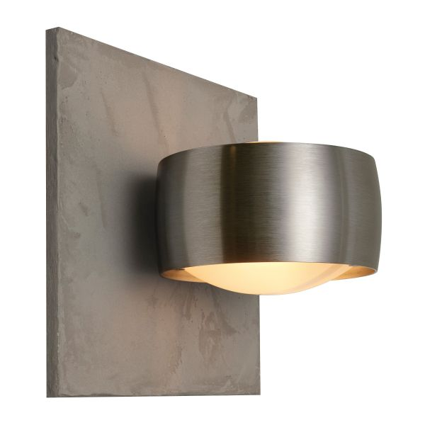Grace Unlimited LED Wandleuchte, Beton Struktur / Chrom matt