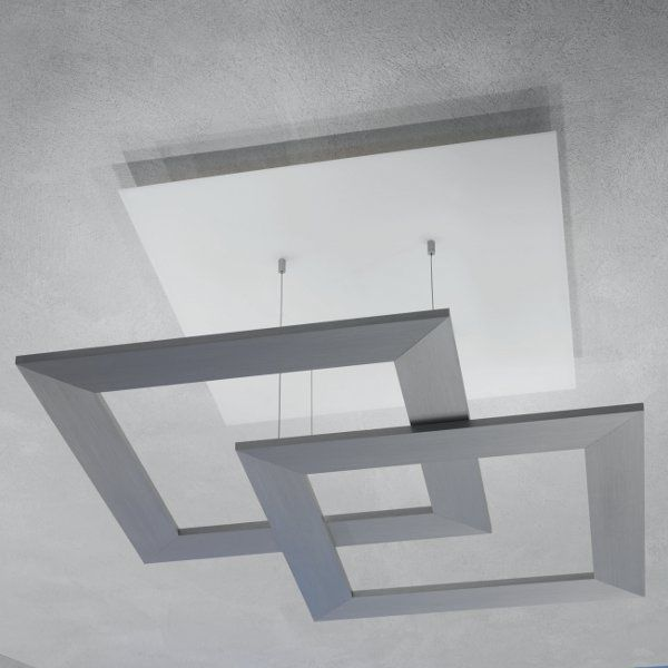 Zen Due Deckenleuchte Aluminium