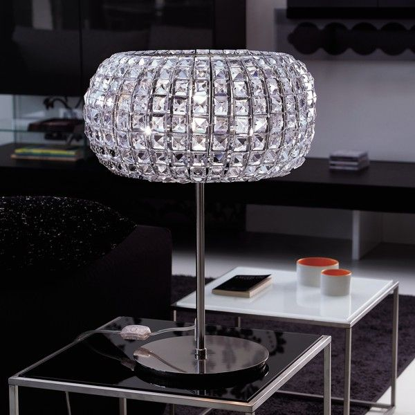 Nashira LG Tischlampe nickel