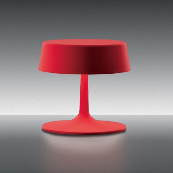 China small Tischleuchte, rot matt