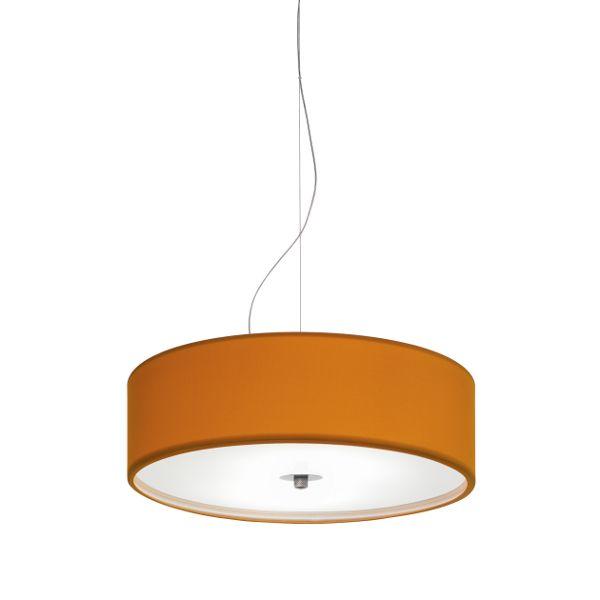 Discovolante E27 Baumwolle/Polyester D40 Pendelleuchte in Orange