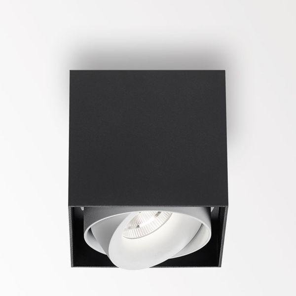 Deltalight, Minigrid on 1 Box dimmbare Deckenanbauleuchte, Farbe schwarz+weiß