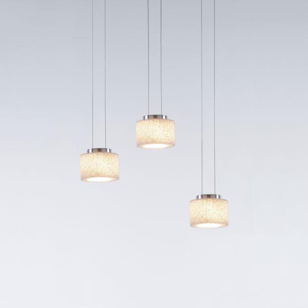 Reef LED Pendelleuchte mit Baldachinprofil für drei Leuchten