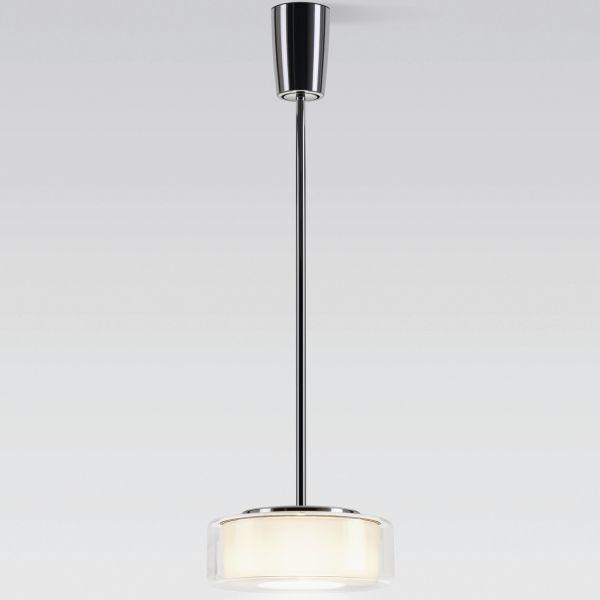Curling Tube klar / zylindrisch opal LED Pendelleuchte