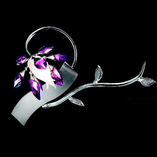 Boccioli 0470/APP1 Wandleuchte violett chrom