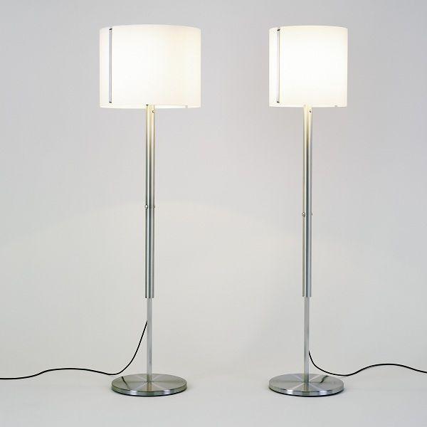 Jones LED Stehleuchte, kleiner und großer Schirm