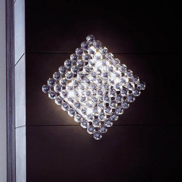 Topazio 27x27 Wand-/Deckenleuchte kristall