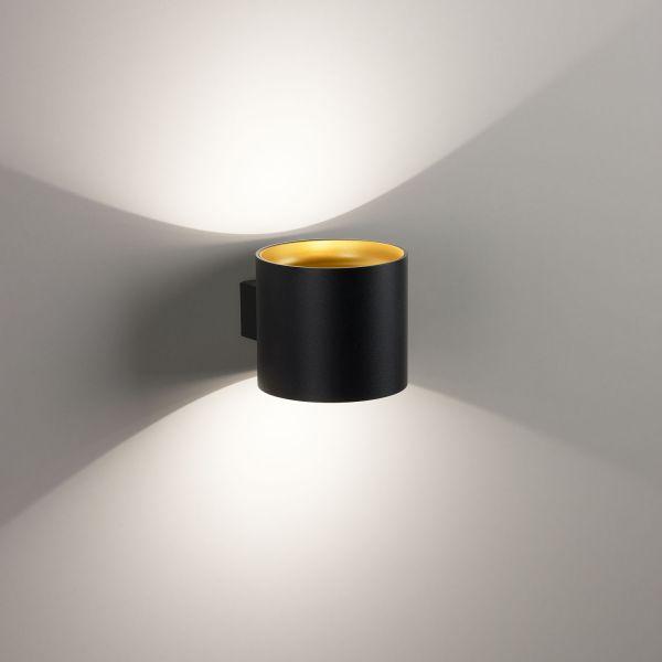 Deltalight, Orbit dimmbare Wandleuchte, Farben Gold+schwarz