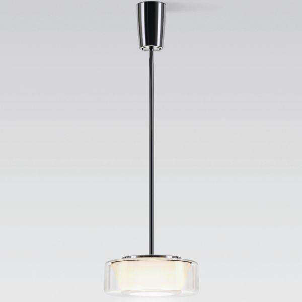 Curling Tube klar / konisch opal LED Pendelleuchte