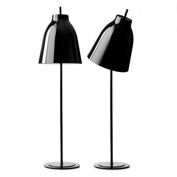 Caravaggio Stehleuchte Schwarz glänzend