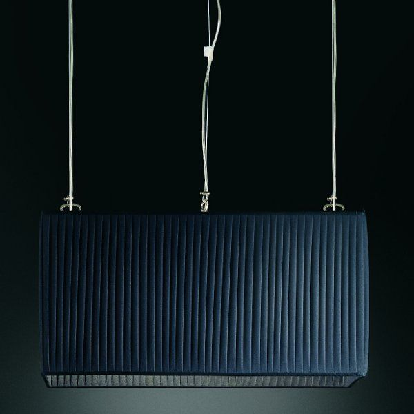 Luxury rectangular Pendelleuchte, schwarz