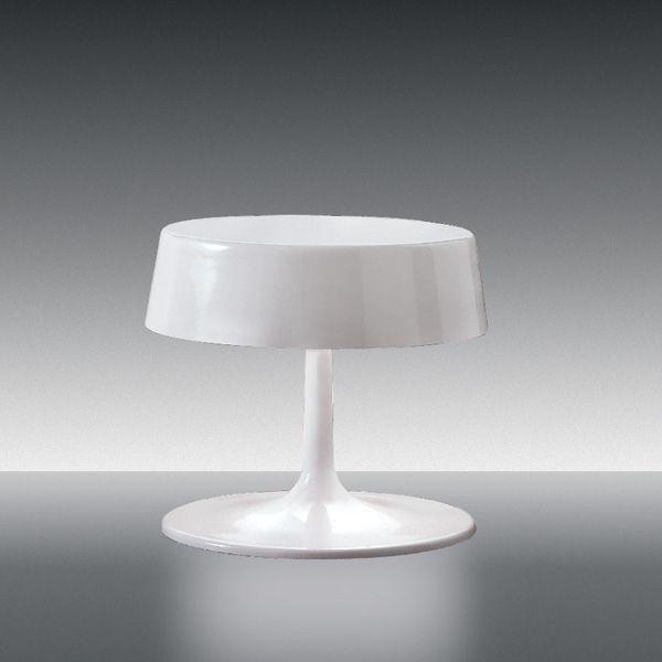 China medium Tischleuchte, weiß glänzend