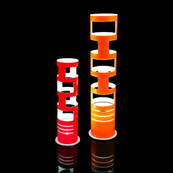 Sama Tischleuchte in rot und orange