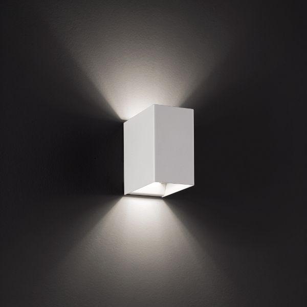 Laser 10x6 Wandleuchte Weiß