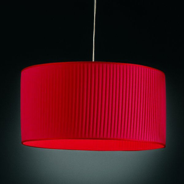 Luxury cylinder Pendelleuchte, rot