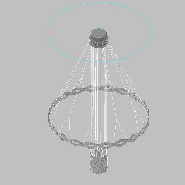 Zoom/Master 2 Elemente Pendelleuchte, Zeichnung