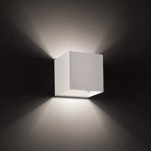 Laser 10x10 Wandleuchte Weiß