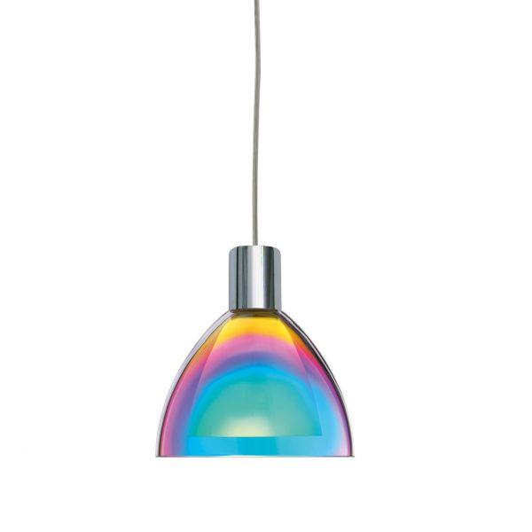 Silva Down LED Blau Magenda / Chrome