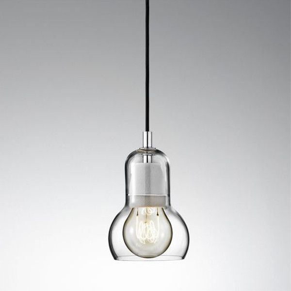 Bulb SR1pendant light with clear blown mouth glass