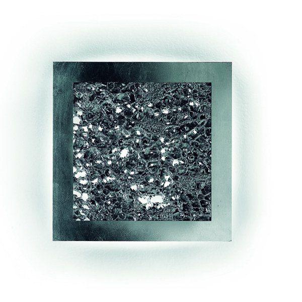 Groove PP Q 35/55 Wand-/Deckenleuchte, silber mit Folie silber
