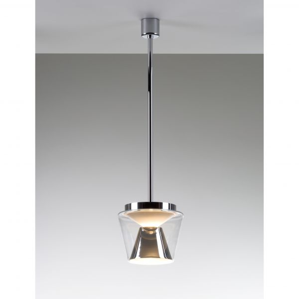 Annex klar/ Aluminium poliert LED Pendelleuchte