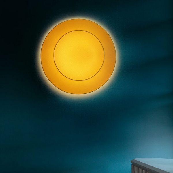 Ring Tonda Wand/ Deckenleuchte Gelb
