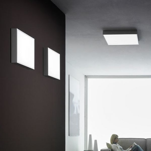 Box LED quadratisch Deckenleuchte