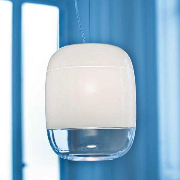 Gong S3 Halogen Pendelleuchte weiß / weiß