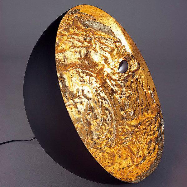 Stchu-Moon 01 Bodenleuchte mit Goldfolie beschichtet