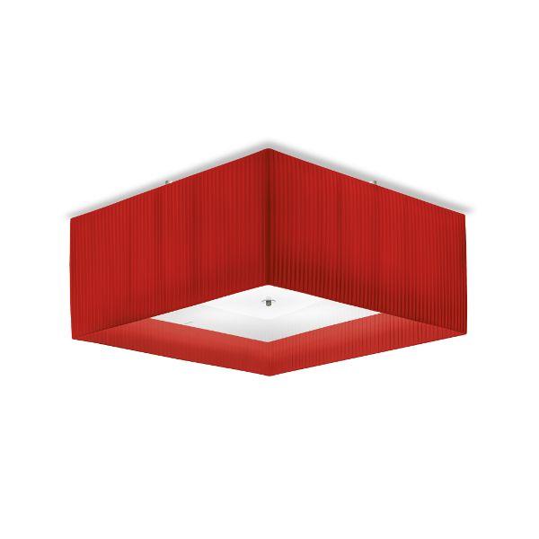 Quadrato 50 Plissee Deckenleuchte Rot