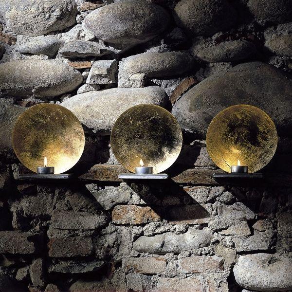 Luna Parete Wandkerzenleuchter in gold