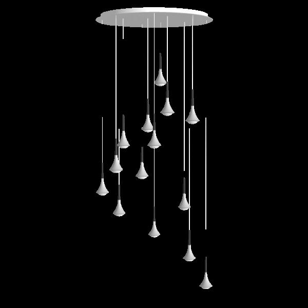 Rain Cluster 14 Lights Round Pendelleuchte