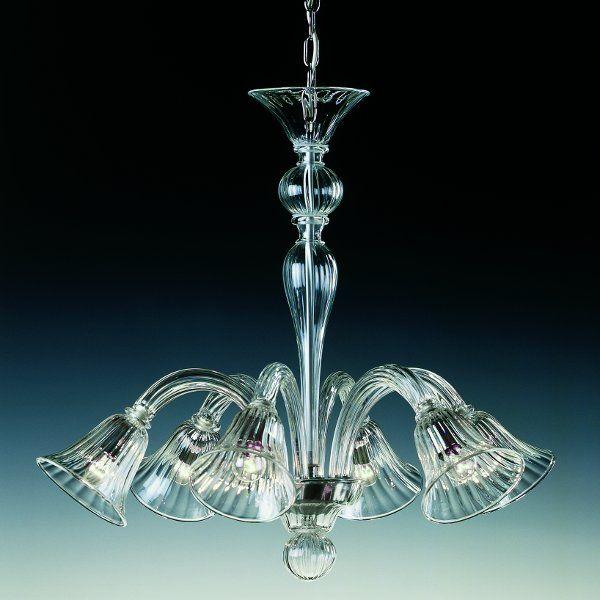 Der Kronleuchter 7080 K6 in kristall