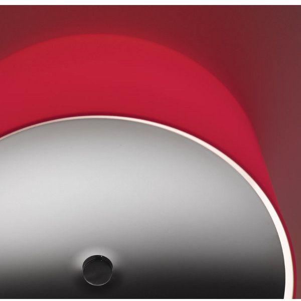 Round PP Glass Wand-/Deckenleuchte, rot mit Linse