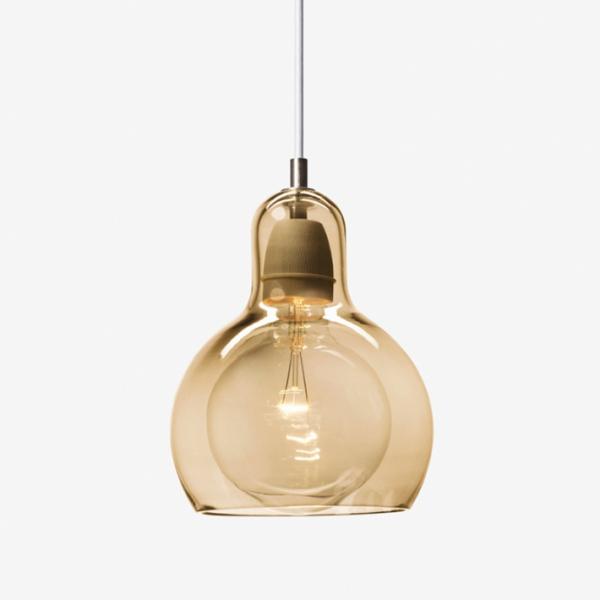 Mega Bulb SR2 Gold, weißes Textilkabel
