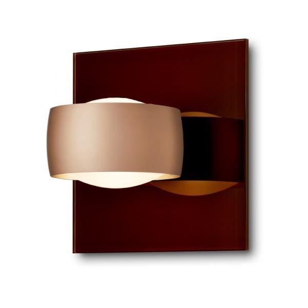 Grace Unlimited LED Wandleuchte, Tabak / Satin Kupfer