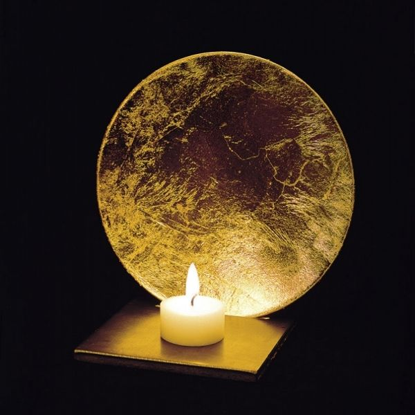 Luna Kerzenleuchter in gold