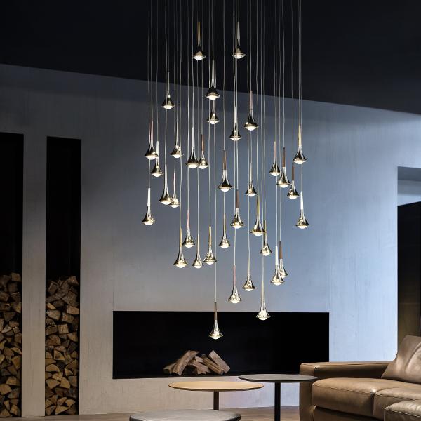 Studio Italia Design Rain Cluster 14 Lights Round