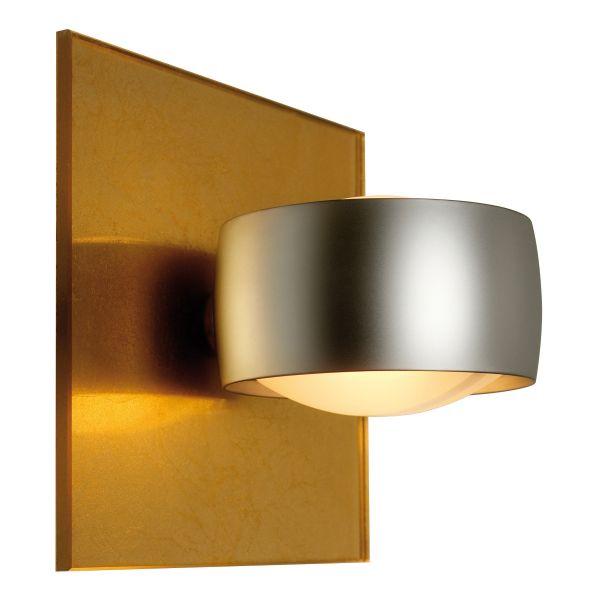 Grace Unlimited LED Wandleuchte, Blattgold / Chrom matt