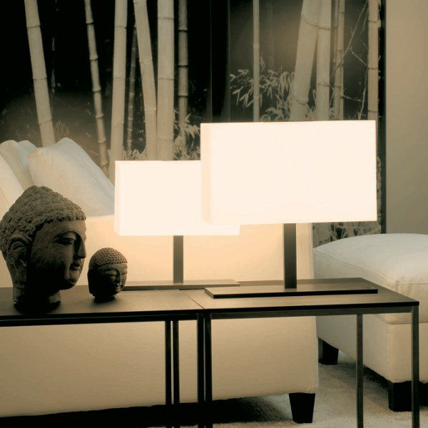 Tosca Tischleuchte small und medium, Opalglas weiss