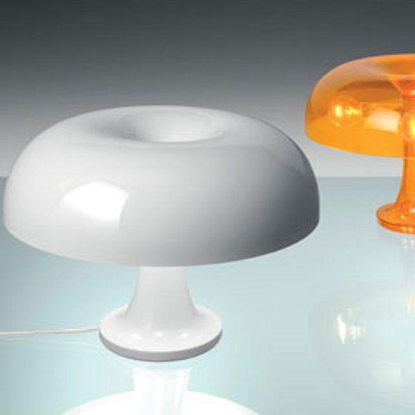 Nessino Tischleuchte, weiss, orange-transparent