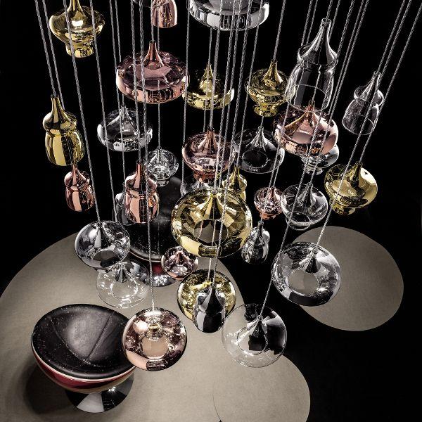 Nostalgia Cluster 14 Lights Rectangular Pendelleuchte