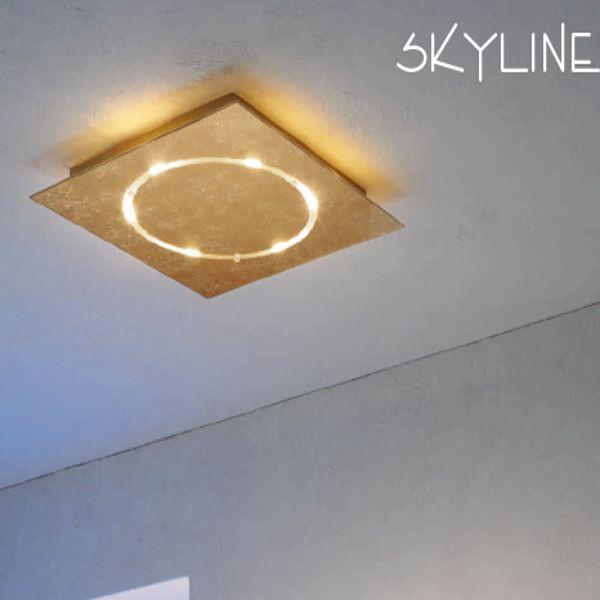 Skyline Deckenleuchte,  Blattgold