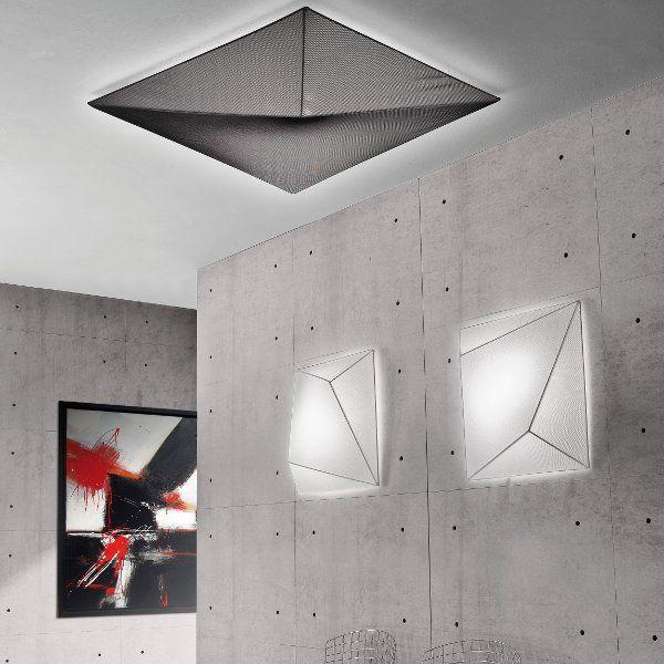 Wand-/Deckenleuchte Ukiyo PL in schwarz